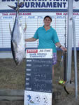 ANGLER: Maria Carnevale. SPECIES: Yellowfin Tuna. WEIGHT: 40.8 Kg.
