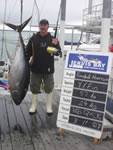 ANGLER: Randall Harrison SPECIES: Yellowfin Tuna WEIGHT: 57.6 Kg TACKLE: 24 Kg line